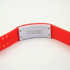USB LED Smart Wrist Band w/ Time / Calorie / 3D Pedometer / Temperature / Sleep Monitor - Red