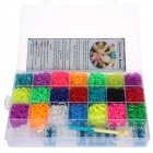 DIY Rainbow Rubber Band Bracelet Kit Set Toy for Kid - Multicolored
