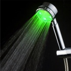 YDL-8008-A26 Temperature Control 12-LED RGB Changing Handheld Chrome-plated Shower Head - Silver