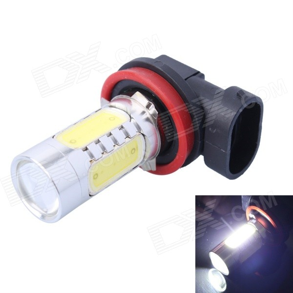 H8 11W 350lm 6000K White LED Foglight w/ 1-CREE XP-E + 4-COB LED for Car (DC12-24V)