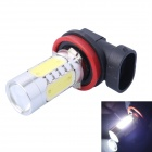 H8 11W 350lm 6000K LED blanco Foglight w / 1-CREE XP-E + 4-COB LED para el coche (DC12-24V)