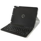 Detachable TPU + ABS Bluetooth V3.0 Keyboard Case for IPAD Air - Black