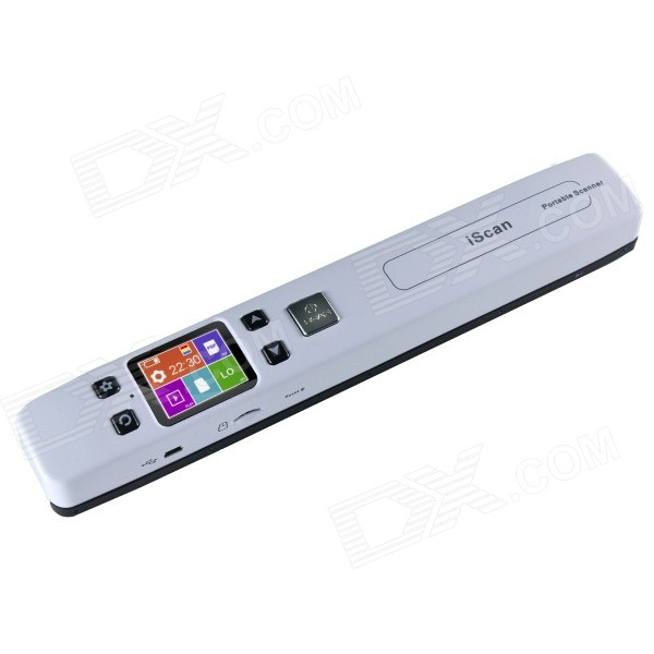 "iScan 2014 1.8"" LCD 1050dpi Portable Handheld A4 Scanner w/ USB + TF Card Slot - White"