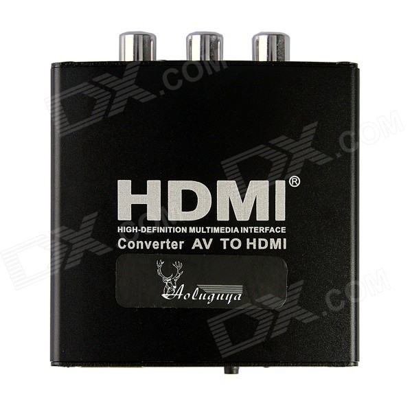 Aoluguya CM01 Full HD 1080p AV HDMI Video Converter w / USA Liittimet - Musta