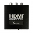 Aoluguya CM01 Full HD 1080P AV to HDMI Video Audio Converter w/ US Plug - Black