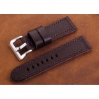 CHIMAERA 24mm Leather Watch Band Soft Vintage Watch Strap for PANERAI - Brown