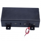 4 x D Size Battery Power Source Holder Case Box with Leads and Cap - Black