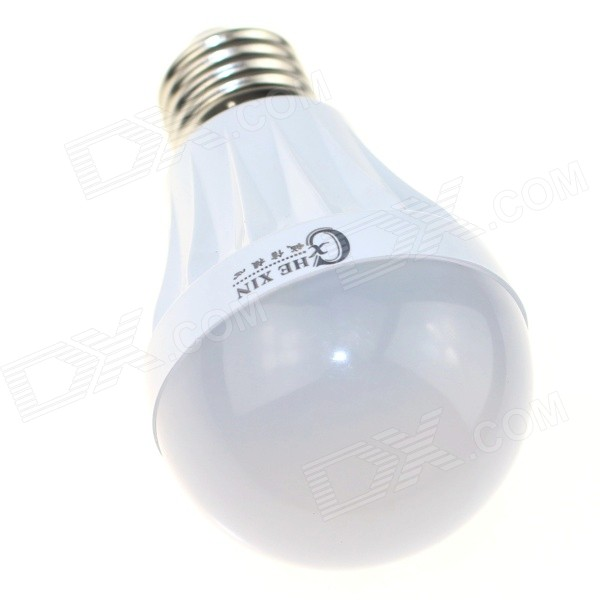 CXHEXIN HX06-5 E27 5W 400lm 3000K 18-SMD 2835 LED Warm White Light Lamp - White (AC 85~265V)