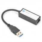 USB 3.0 Wired 10 / 100 / 1000Mbps Network Card Adapter - Black