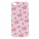 Flowers Pattern TPU Back Case for IPHONE 6 PLUS - White + Pink
