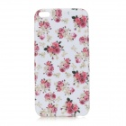 Rose Pattern Protective TPU Back Case for IPHONE 6 PLUS - White + Red