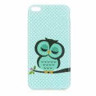 Owl Pattern Protective TPU Back Case for IPHONE 6 PLUS - Green + Black