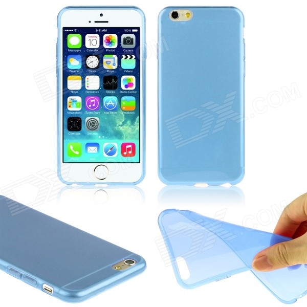 Hat-Prince Ultra-thin Protective TPU Soft Back Case for IPHONE 6 PLUS 5.5 - Translucent Blue iface mall glossy pc non slip tpu back case for iphone 6 plus 6s plus blue