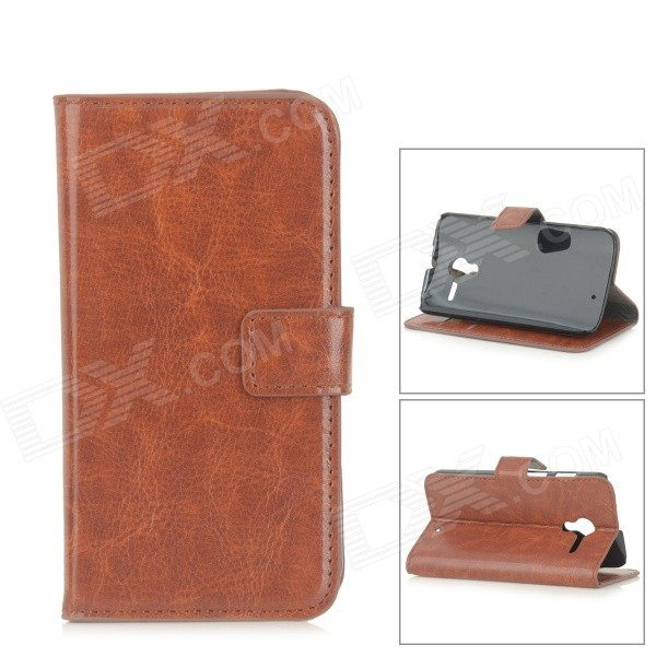 Protective Flip-Open PU Leather Case w/ Card Slots for Motorola Moto X - Brown high quality leather wallet style flip open case w card slots for iphone 6 plus brown