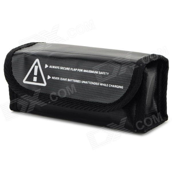 Anti-explosion Lithium Battery Protective Storage Bag for R/C Toy - Black roxy halter onepiece j pss0