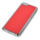 "Protective Plastic + Aluminum Alloy Wiredrawing Back Case for IPHONE 6 4.7"" - Red"
