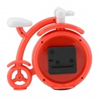 Creative Fashion Bicycle Shaped ABS + Quartz Desk Clock - Red + White (1 x AA)