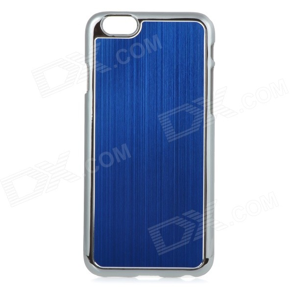 "Protective Plastic + Aluminum Alloy Wiredrawing Back Case for IPHONE 6 4.7"" - Blue"