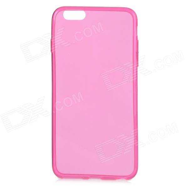 Ultra Thin Protective TPU Back Case Cover for IPHONE 6 PLUS 5.5 - Deep Pink + Translucent stylish ultra thin protective tpu back case cover for 4 7 iphone 6 translucent pink
