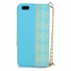 "Stylish Purse Style PU + TPU Protective Case w/ Stand + Card Slot for IPHONE 6 4.7"" - Blue"