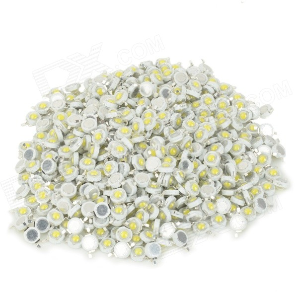 JRLED DIY 1W 90lm 6500K White Light LED Lamp Bead - White + Light Yellow (500 PCS)
