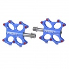 AEST YRPD-07T Lightweight Aluminum Magnesium Alloy Bicycle Bike Pedals - Blue (2 PCS)