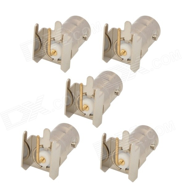 RF Coaxial Right Angle BNC Female Connectors - Silver + Yellow (5 PCS) 6089067 1 rf connectors coaxial connectors 8804 5004 94 mr li