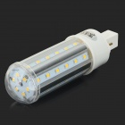 JRLED G24 10W 800lm 3200K 42-SMD 2835 LED Warm White Corn Lamp - White + Silver (AC 85~265V)