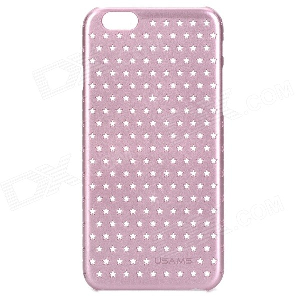 Hollowed Stars Pattern PC Back Case for IPHONE 6 4.7 - Pink kinston kst01605 cartoon stars pattern matte pc back case for iphone 4 4s dark pink