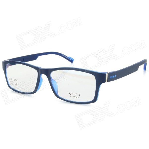 G8202 C9 Fashion TR90 Frame PC Lens Sport Optical Eyeglasses - Black + Blue