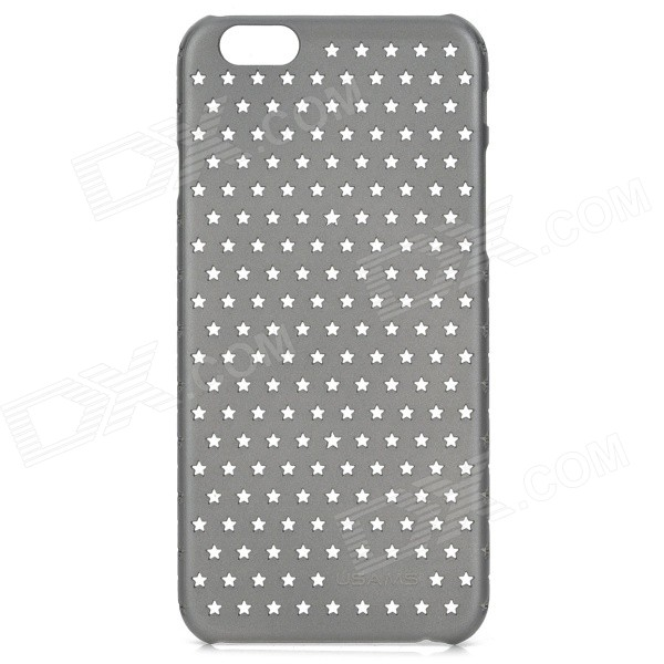 Hollowed Stars Pattern PC Back Case for IPHONE 6 4.7 - Black pc dust proof mobile phone case for iphone 6 6s
