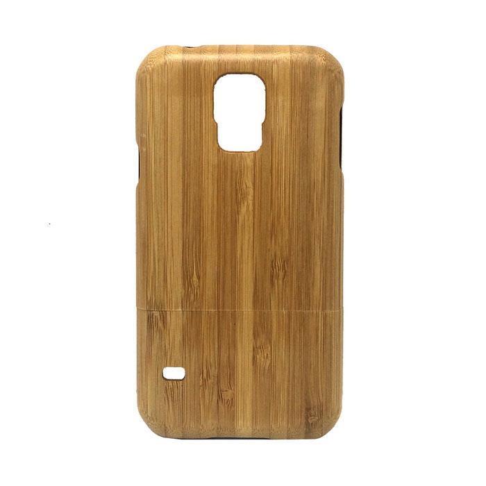 Protective Bamboo Back Case for Samsung Galaxy S5 - Yellow