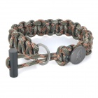 EDCGEAR Outdoor Survival Parachute Cord Rope Bracelet w/ Ferrocerium Rod + Hidden Knife - Camouflage