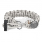 EDCGEAR 3-in-1 Outdoor Survival Parachute Cord Rope Bracelet w/ Ferrocerium Rod/Hidden Knife - Grey