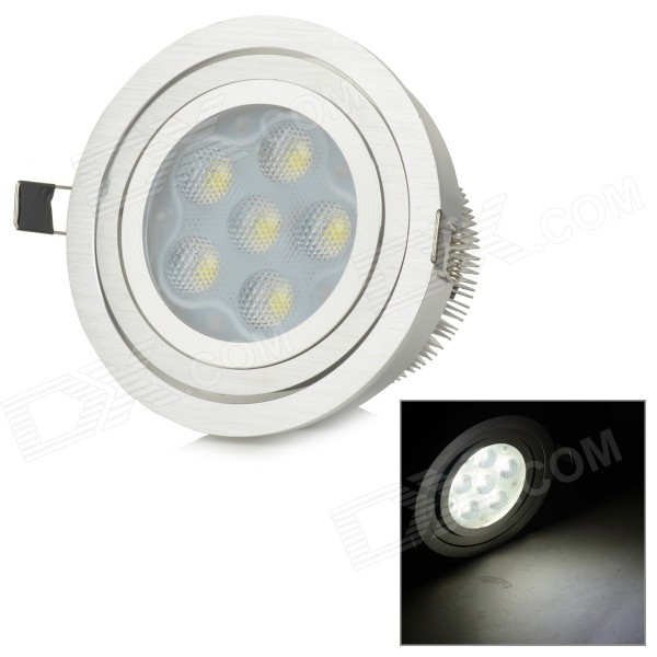 12W 950lm 6000K High Power 6-LED White Light Ceiling Lamp - Silver (AC 85~265V) ar111 led lamp 12w 6 2w led spot ceiling light high quality es111 qr111 85v 265v daywhite fcc