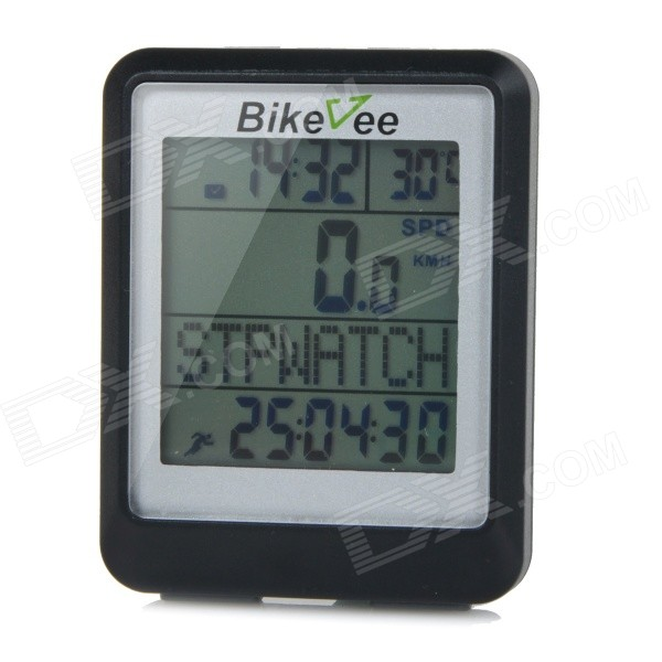 bikevee-water-resistant-20-function-16-screen-wired-electronic-bike-computer-black-1-x-cr2032