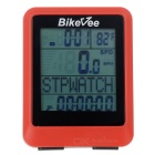 "Bikevee Water Resistant 20-Function 1.6"" Screen Wired Electronic Bike Computer - Red (1 x CR2032)"