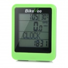 "Bikevee Water Resistant 20-Function 1.6"" Screen Wired Electronic Bike Computer - Green (1 x CR2032)"