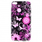 Butterfly & Flower Pattern TPU Back Case for IPHONE 6 PLUS - Black