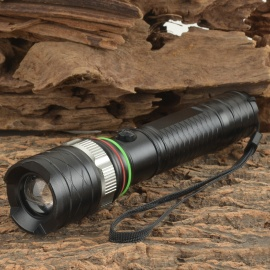UltraFire 900lm 5-Mode White Zooming Flashlight w/ Cree XM-L T6 / Car Charger / US Plug Charger