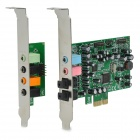 Desktop 8-Channel Hi-Fi 48KHz PCI-Express Sound Card - Green + Black