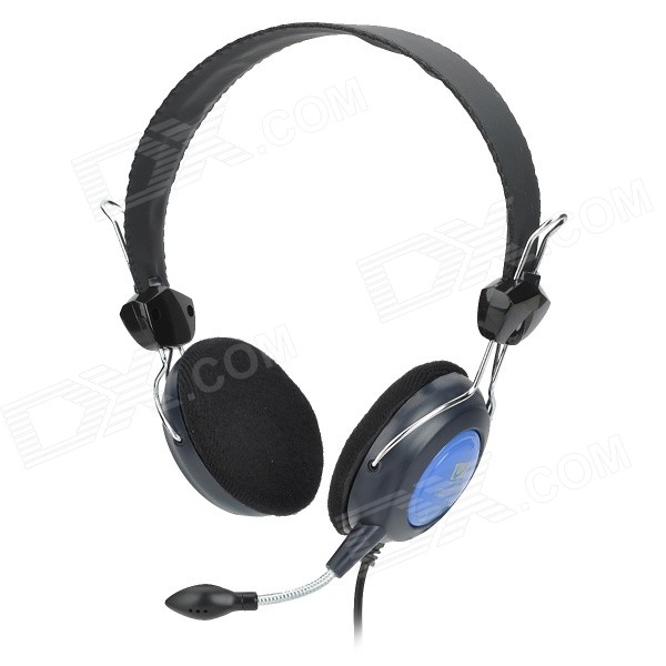 VoiceAo VA-3700 3.5mm Wired Stereo Headband Headphones w/ Microphone - Black + BlueHeadphones<br>Color Black + Blue Brand VoiceAo Model VA-3700 Quantity 1 Piece Material Plastic Shade Of Color Black Interface 3.5mm Wireless or Wired Wired Powered By Power Free Headphone Frequency Response 20Hz~20000Hz Impedance 32 ohm Microphone Frequency Response 30Hz~16000Hz Sensitivity 100dB Sound Card No Other Features Snake tube microphone multiple angles adjustment; Black velvet earbud cover comfortable to wear. Packing List 1 x Headphones (225cm-cable)<br>