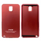 Metal Wire Drawing Titanium Alloy Bumper Frame w/ Back Cover for Samsung Galaxy Note 3 - Red