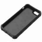 Multifunction Silicone Back Case w/ Stand + Opener + Lighter for IPHONE 5S - Black