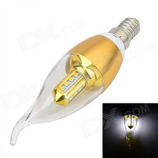 YouOKLight TH-192 E14 3W 240lm 7500K 16-2835 SMD LED Cool White Light Candle Lamp (AC 85~265V)