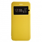 "Cross Pattern Protective PC + TPU Case for IPHONE 6 4.7"" - Yellow"