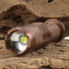 UltraFire SH-68 800lm 5-Mode White Zooming Flashlight Set w/ CREE XM-L T6 / Bicycle Mount - Coffee