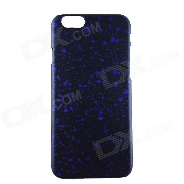 "Matte Protective PC Back Case para iPhone 6 4.7 ""- Preto + Roxo"