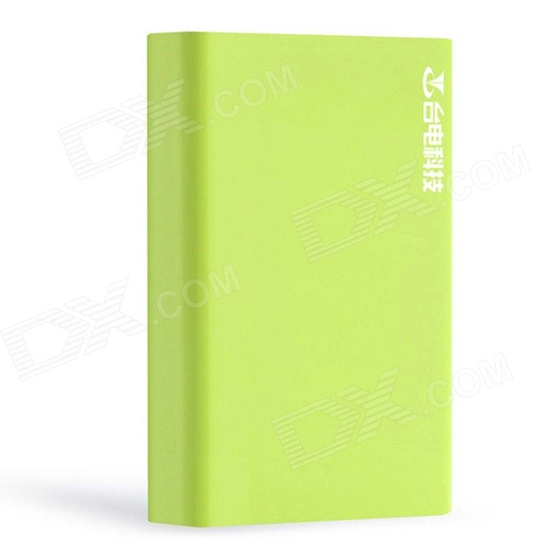 Teclast T100F-G 10000mAh Dual USB Power Bank w/ 4-LED Indicators - Green teclast t100j r 5v 10000mah dual usb li ion power bank w led indicator blueish green