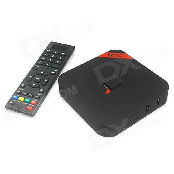 MXQ Quad-Core H.265 Android 4.4.2 Google TV Player w/ 1GB RAM, 8GB ROM, TF, Wi-Fi, US Plug